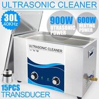 900 Вт ультразвуковой очистки 30L промышленных Применение Нагреватель 40 кГц Нержавеющаясталь Ванна ультразвуковой аппарат автомобиля Лабор