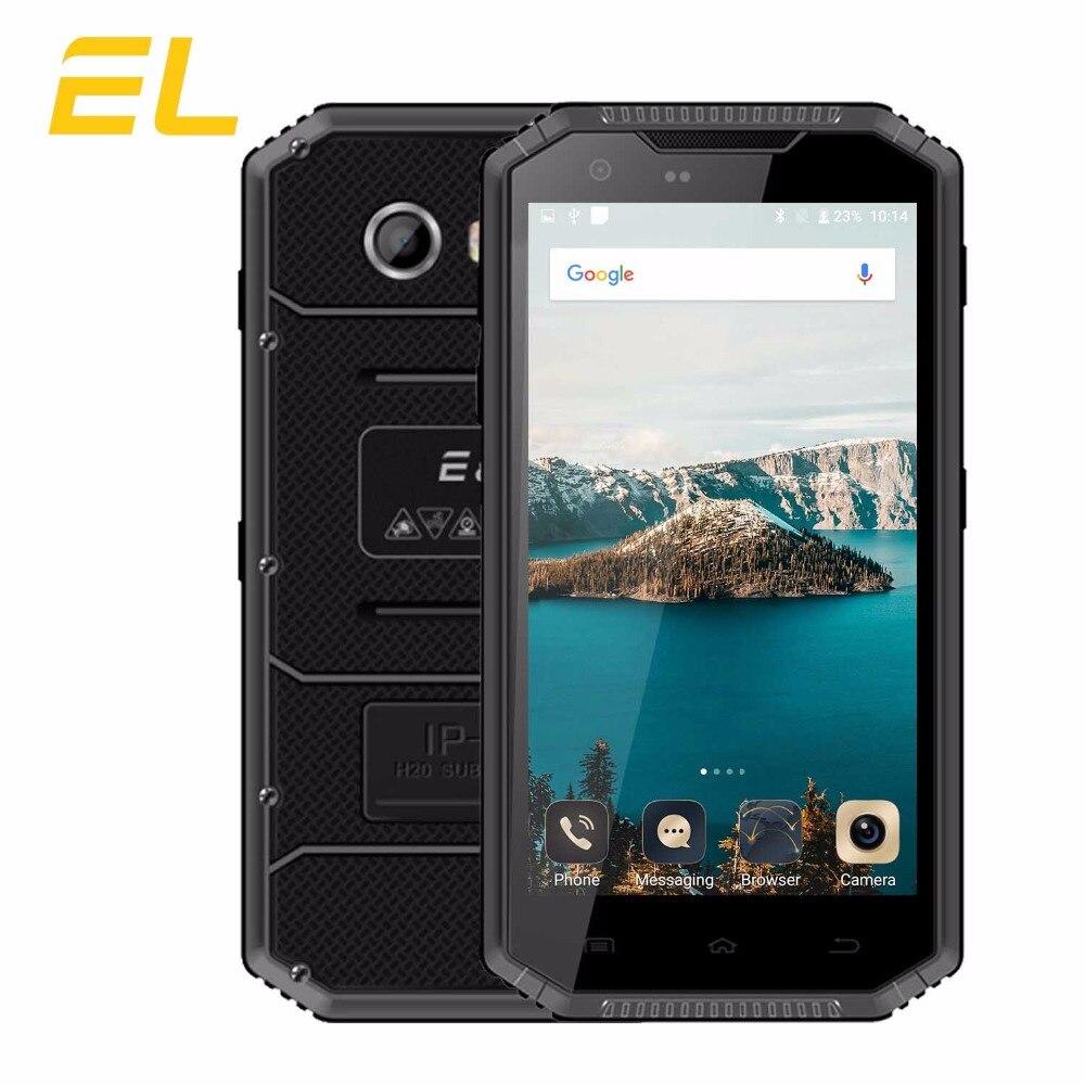 E L W7S IP68 4G Mobile Phone 5 0 Inch HD MTK 6737 Quad core 16GB