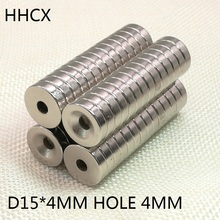 100 шт./лот дисковый магнит 15x4 мм N35 сильный D утопленные магниты NdFeB(неодим-железо-бор 15*4 мм отверстие 4 Постоянный магнит 15 мм х 4 мм