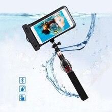 Новое поступление водонепроницаемый bluetooth Selfie stick 245 мм-735 мм Выдвижная Bluetooth монопод для смартфона GoPro и DLSR