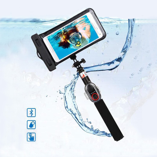 new arrival 2d3e3 f195f US $26.68 8% OFF|Waterproof Bluetooth Selfie Stick Sets 245mm 735mm  Extendable Bluetooth Monopod for Iphone Xiaomi Smart phones Gopro LSR-in  Selfie ...