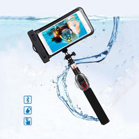 Waterproof Bluetooth Selfie Stick Sets 245mm 735mm Extendable Bluetooth Monopod for Iphone Xiaomi Smart phones Gopro LSR