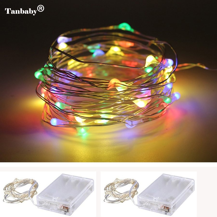 1M 2M 3M 4M 5M LED Copper Wire String Fairy Lights AA Battery Operated Christmas Holiday Wedding Party Decoration Lights