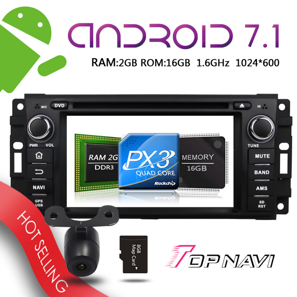 TOPNAVI 6 2 Android 7 1 Auto GPS Players for Jeep Sebring 300c Grand Cherokee Compass