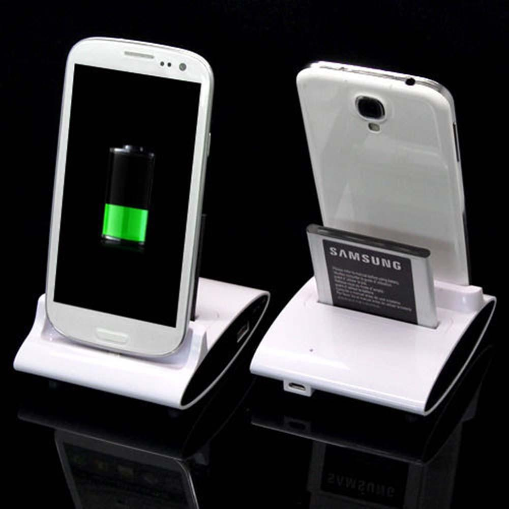 Dual Sync Battery Charger Cradle Dock Station Stand For Samsung ...