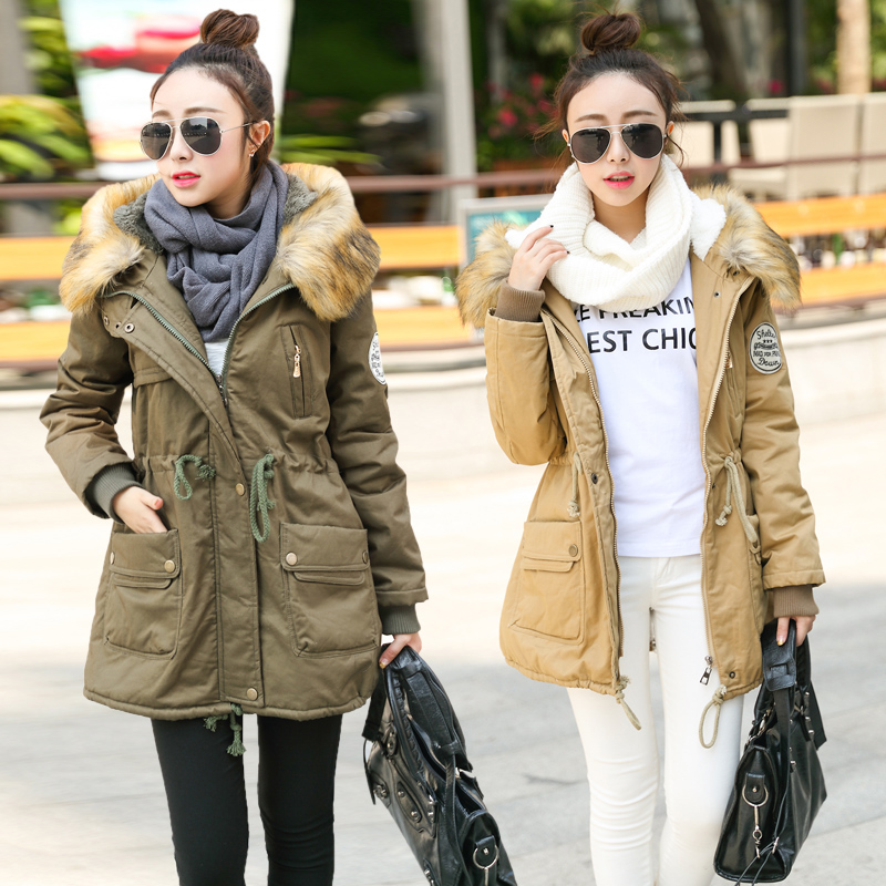 New Arrival 2015 Fashion Winter Loose Hooded Cotton Padded Jackets Large Size Camouflage Parkas Wadded Thicken Women Coat H5341