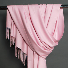 Winter Scarf Women Thicken Warm Scarves pashmina Wool Cashmere hijabs Shawl Female Wrap Pashmina Tassels Solid Color
