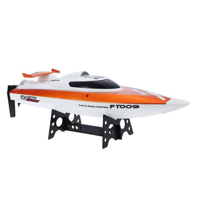 2.4G 4CH Fei Lun FT009 RC Boat 30km/h High Speed Racing Boat Water Cooling System Self-righting Speedboat 360 Flip Airship Boat^