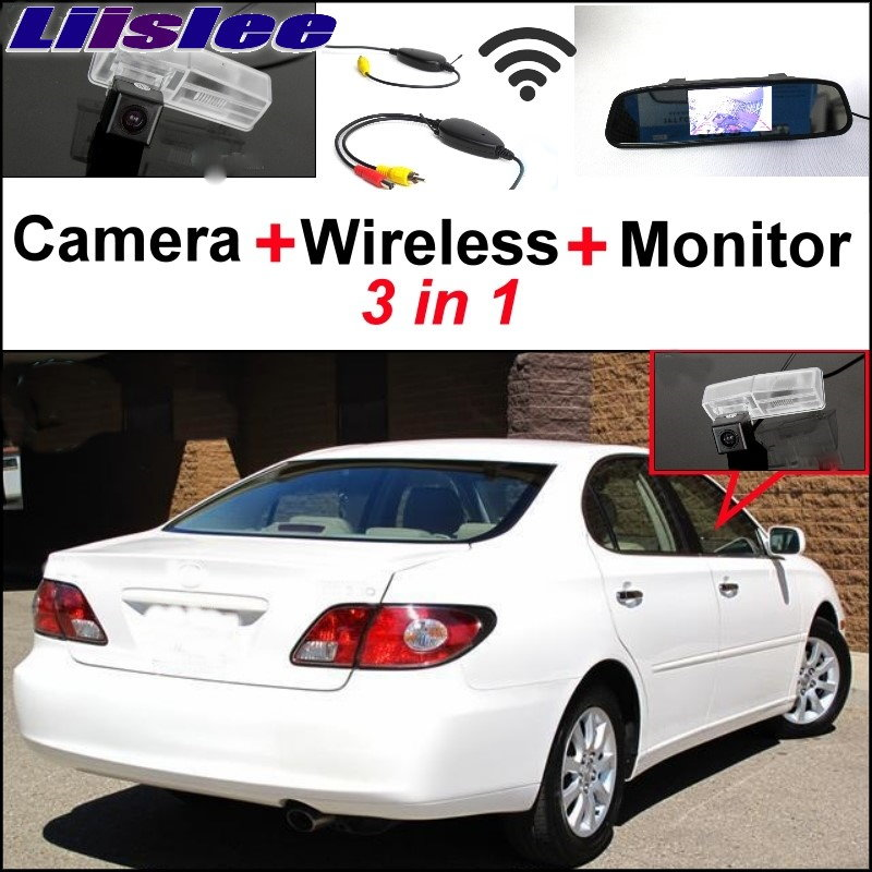 Liislee For Lexus ES300 ES330 XV30 2002~2017 3 in1 Special Rear View Camera + Wireless Receiver + Mirror Monitor Parking System liislee 3in1 special rear view camera wireless receiver mirror monitor easy parking system for lexus ls430 celsior 2001 2017