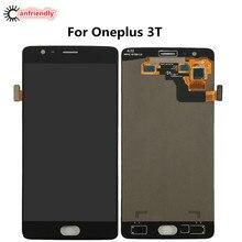 Für OnePlus 3 T A3010 LCD Display + Touchscreen Digitizer Montage ersatz Glas-panel Für Eins Plus Drei T lcds reparatur neue
