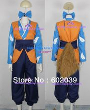 Inuyasha Shippou Cosplay Costume include head ornament and big faux fur tail