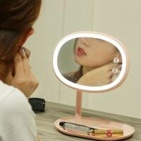 Ekran dotykowy USB do Ładowania 50 LEDs Lampy Biurko Światła LED Lusterko Do Makijażu Profesjonalnym Zdrowia Urody Twarzy Kosmetyczne Lustro Światła