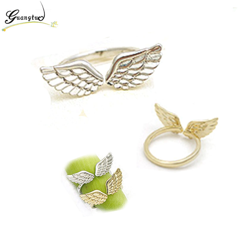 Fashion Small Angel Wings Finger Rings For Women Fashion Jewelry Anillos Gold Silver Plated Anel Bijoux Ring HOT Selling