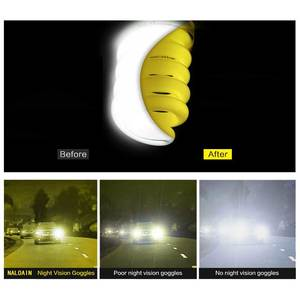 Image 3 - NALOAIN للرؤية الليلية نظارات عدسات قطبية مكافحة وهج UV400 إطار معدني الأصفر القيادة نظارات للرجال النساء سيارة سائق 8177