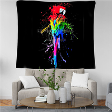 PLstar Cosmos Tapestry Parrot Flower 3D Printing Tapestrying  Rectangular Home Decor Wall Hanging New style 2