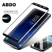 3D Full Cover Protective Glass for Samsung S7 S8 S9 S6 9H Tempered Glass Samsung Galaxy Note 8 Note 9 Note 7 A7 A9 J6(China)