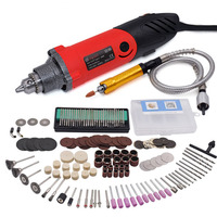 240W Electric Mini Drill Variable Speed Multi functional Rotary Tools with 141pcs Kit for DREMEL Style With Flexible Shaft