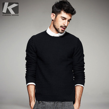 Autumn Mens Casual Sweaters Black Striped Knitted Brand Clothing Man's Slim Knitwear Pullovers Knitting Clothes Tops