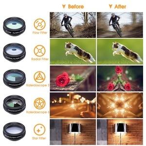 Image 5 - TRAVOR Phone Lens Kit Kaleidoscope+2X telescope Lens Fisheye Lens Wide Angle macro Lens CPL Filter For iphone Xiaomi Samsung