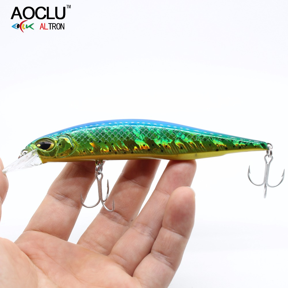 AOCLU Jerkbait Lures Wobblers Minnow Crank Fishing-Lure Magnet-Bass Vmc-Hooks with Fresh