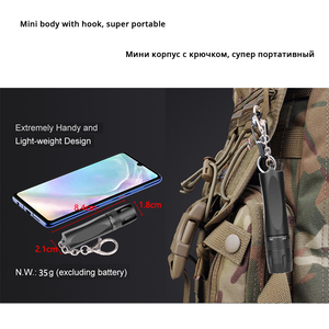 Image 3 - MINI Super bright LED Flashlight Use T6 lamp bead waterproof LED Torch Powered by AA battery Suitable for outdoor use