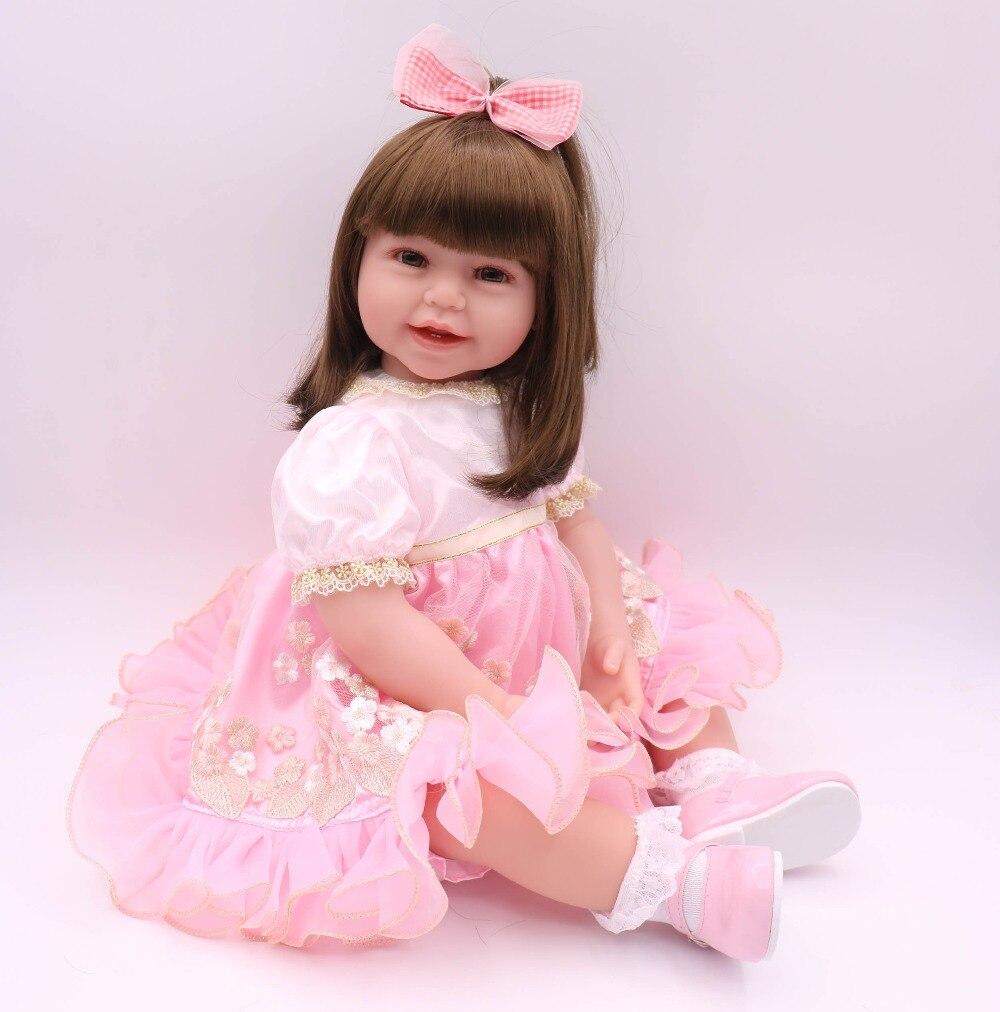 "DollMai 24"" Toddler baby girl princess dolls lifelike reborn babies Silicone dolls for children gift bebs reborn menina bonecas"