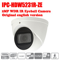 DHL Free Shipping Dahua 2MP WDR IR Eyeball Network Camera IPC HDW5231R ZE Smart Detection Supported
