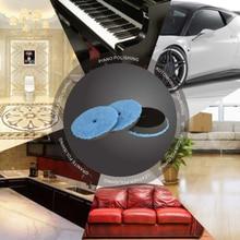 6″ Polishing pads Disc Car Detailing Waxing Bonnets Mitts Automotive Tools Kit Buffing Plush Microfiber