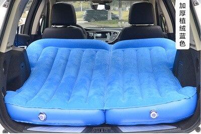 Автомобиль надувной матрас внедорожник багажник вагон автомобильные аксессуары Универсальный - Название цвета: Синий