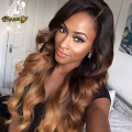 7A T1b/30 Ombre Lace Wig Brazilian Human Hair Full Lace Wigs Glueless Ombre Full Lace Front Wigs With Baby Hair For Black Women