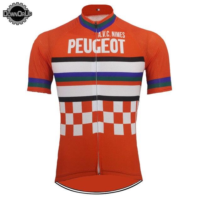4f5b259c5461d Rétro Vélo jersey bike wear hommes À manches Courtes ropa ciclismo vtt  Maillot classique top vélo