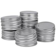 20 шт крышка банка Мейсона с силиконовым уплотнением обычные рот герметичные и безопасные, серебро