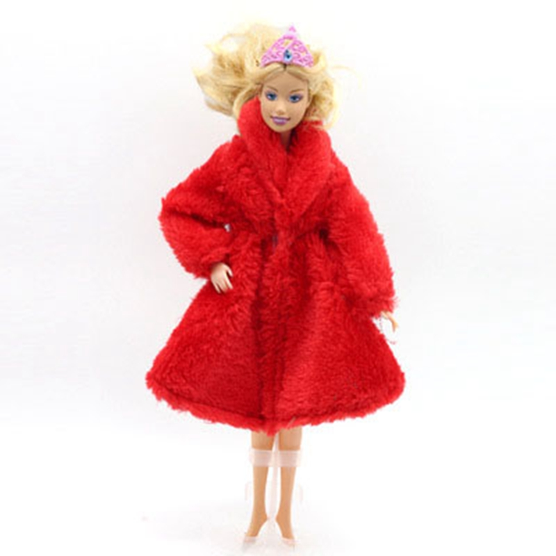 Doll Accessories Winter Wear Warm Fur Coat Dress Clothes For Dolls Fur Doll Clothing For Doll Kids Toy #2
