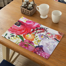 Table Mat Printed Fabric Blanching Heat Insulation Cup Dish Bowl Tableware Placemats for Kitchen Drink Coaster Durable