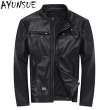AYUNSUE 100% Genuine Leather Jackets Mens Sheepskin Coat Cha