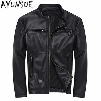 AYUNSUE 100% Genuine Leather Jackets Mens Sheepskin Coat Chaqueta Cuero Hombre Leather Jacket Motorcycle Coats Plus Size WXF046 - DISCOUNT ITEM  56% OFF All Category