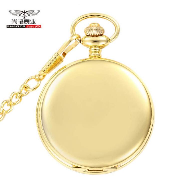 popular gold pocket watch chain buy cheap gold pocket watch chain new gold mirror case mens analog quartz pocket watch chain mainland