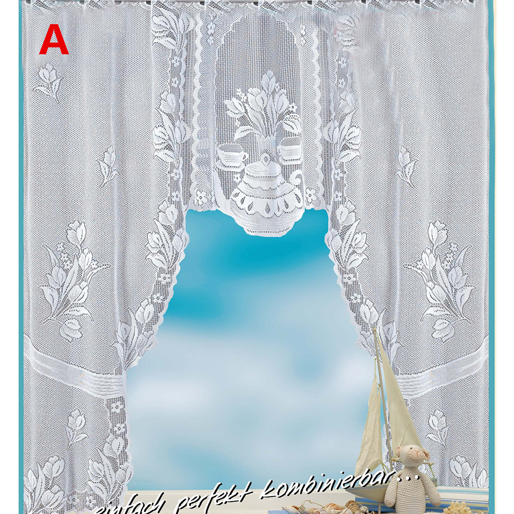 US $3.09 29% OFF European White Lace Sheer Curtains for Kitchen Valance  Window Tulle Curtains Coffee Dividers Curtain Bedroom Roman Blinds D1-in ...