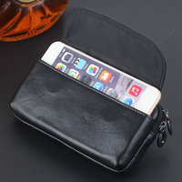 DEEVOLPO Luxury Bất Genuine Leather Wallet Phone Case Cho Samsung S7 S6 Bag Đối Với iPhone 8 7 6 6 S Cộng Với Che Phổ Purse