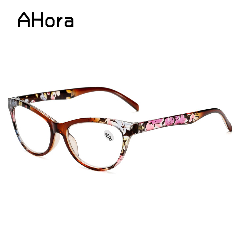 Ahora Cat Eye Reading Glasses Women Men Lightweight Presbyopic Reading Glasses +1.0 1.5 2.0 2.5 3.0 3.5 4.0 Presbyopia Eyewear