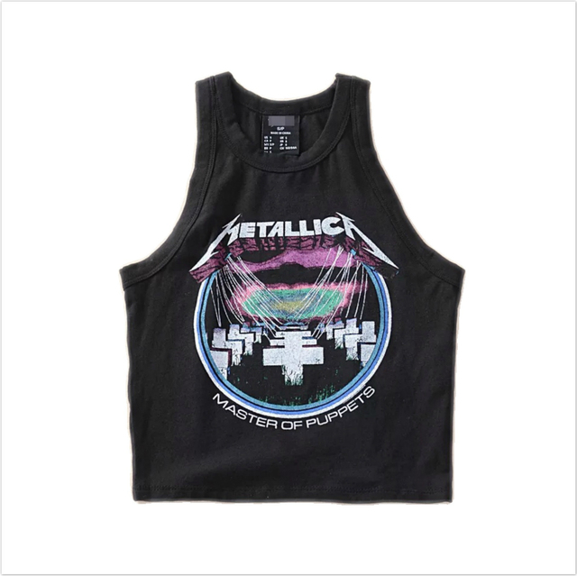 2017 banda de rock metal Metallica curto colete fino