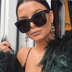 Kim Kardashian okulary przeciwsłoneczne damskie luneta Femme 2020 luksusowa marka kwadratowe ponadgabarytowe okulary przeciwsłoneczne UV400 okulary 3