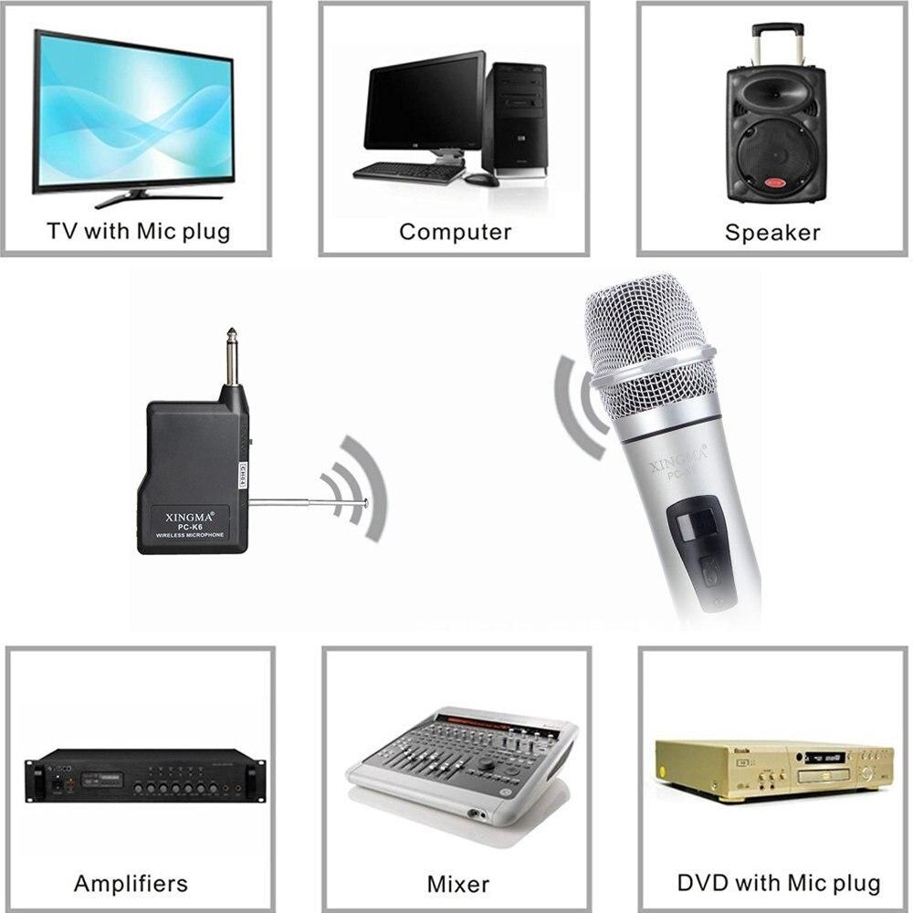 Unterhaltungselektronik Xingma Pc-k6 Drahtlose Mikrofon Karaoke Professional Studio Vhf Dynamische Handheld Mic Für Computer Pc Ktv System Mit Empfänger Live-geräte