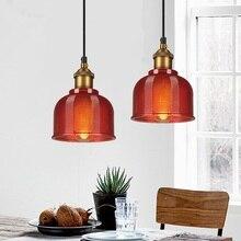Kitchen Island Light Red Glass Pendant Lights Bar Modern Lighting Office Bedroom Home Ceiling Lamp Include Bulb