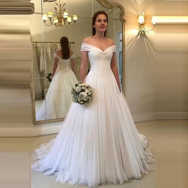 Wedding Dresses Simple Tulle Vestido De Noiva Robe De Mariage Dresses Married White Bridal Gown