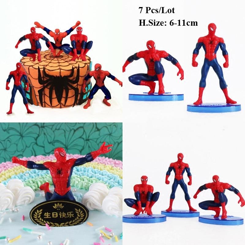 Tremendous Spiderman Toys Cake Topper Birthday Cake Decoration Toys For Baby Funny Birthday Cards Online Unhofree Goldxyz