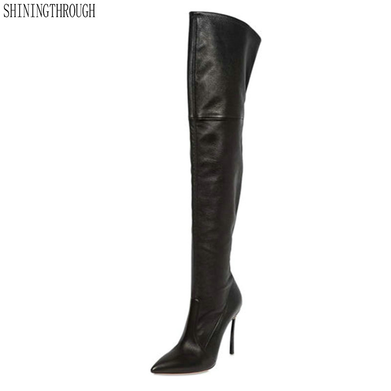 New women shoes woman boots large size 33-43 autumn over the knee boots thin high heels shoes sexy party boots new women shoes woman boots large size 33 43 autumn over the knee boots thin high heels shoes sexy party boots