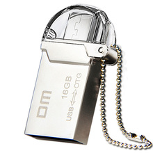 Free shipping DM PD008 16GB USB2.0 with double connector used for OTG smart phone and computer 100% waterproof metal material