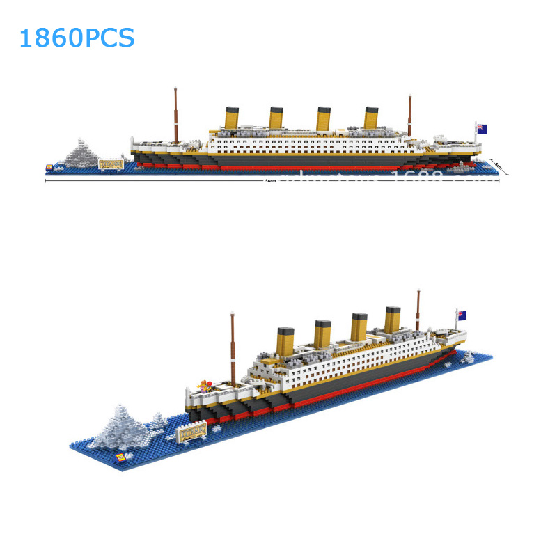 Classic Deluxe Cruise Titanic micro diamond building block model scens ship bricks nanoblock assemble toys collection for gifts creator hot world famous city funland micro diamond building block castle nanoblock assemble model bricks toys collection gifts