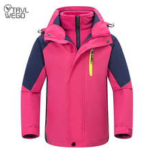 TRVLWEGO Kids Children Ski Suit Waterproof Jacket Snow Pants Thermal Boys Girls  3 In 1 Winter Outdoor Hooded Clothes Costume
